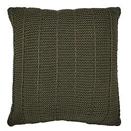 Bee & Willow Home™ Knit Square Throw Pillow in Olive Stripe