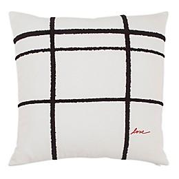 ED Ellen DeGeneres Riad 24 Embroidered Plaid Square Throw Pillow