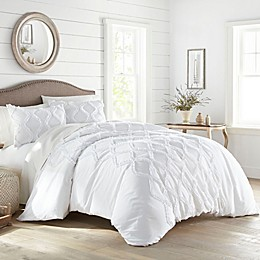 Stone Cottage® Anne Ruffle Ogee Duvet Cover Set in White