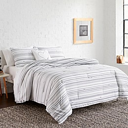 ED Ellen DeGeneres™ Staggered Love Comforter Set in Graphite Grey
