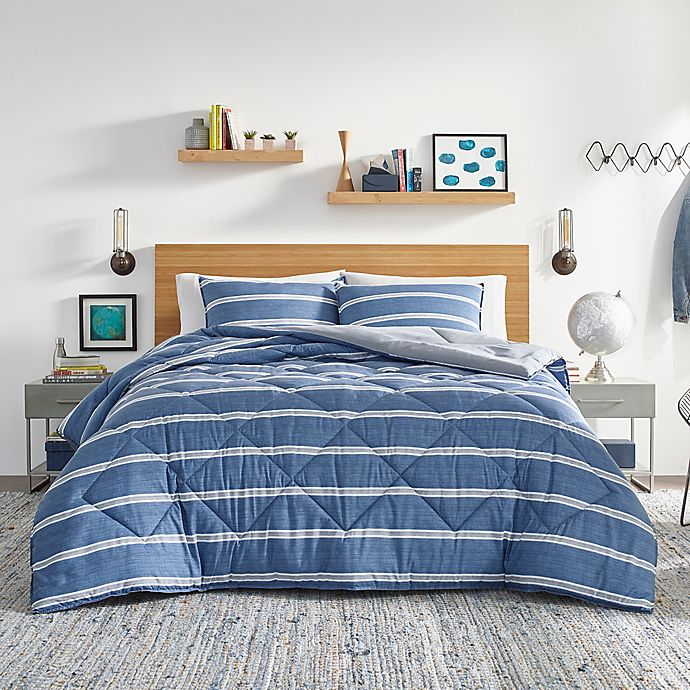 Alternate image 1 for Nautica® Keller Comforter Set in Blue