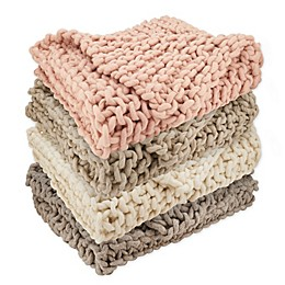 Saro Lifestyle Chunky Knit Throw Blanket