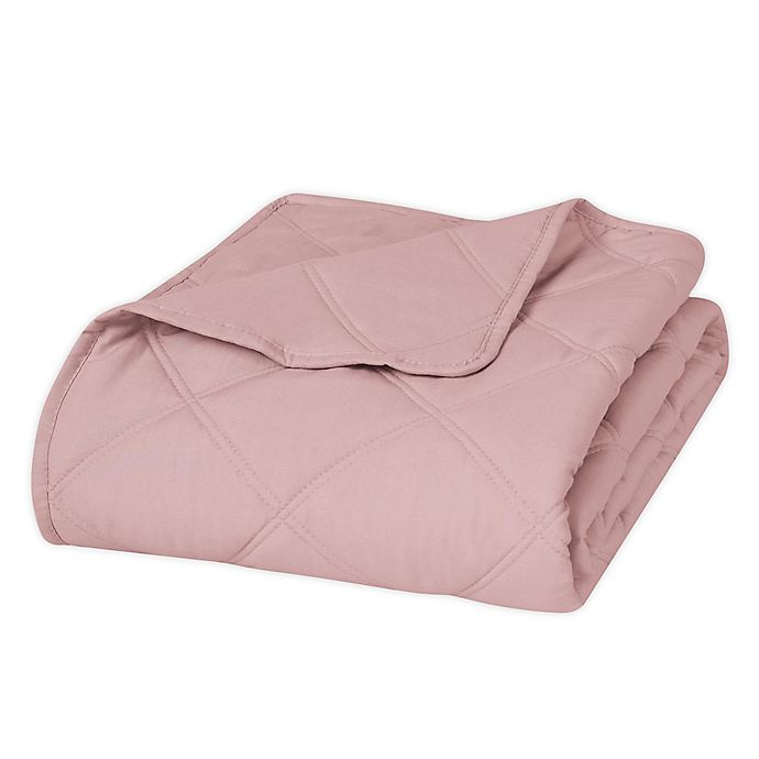 Alternate image 1 for Ellen Tracy Quilted Throw Blanket in Rose