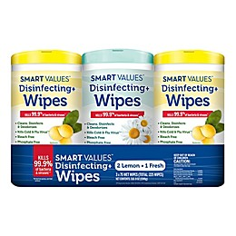 Smart Values™ 225-Count Disinfecting Wipes in Lemon and Fresh Scent (Set of 3)