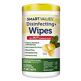 Smart Values™ 75-Count Disinfecting Wipes in Lemon Scent
