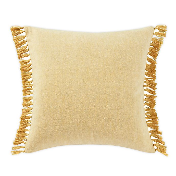 Alternate image 1 for Tommy Bahama® Island Essentials Fringe European Sham Pillow in Orchre