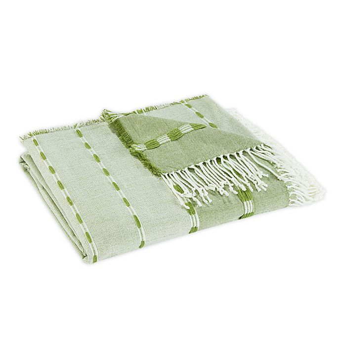 Alternate image 1 for Tommy Bahama® Palms Sarong Throw Blanket in Green