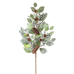 Glitter Leaf and Berry 34-Inch Decorative Floral Spray