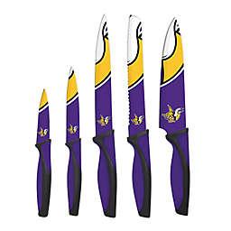 NFL Minnesota Vikings 5-Piece Stainless Steel Knife Set