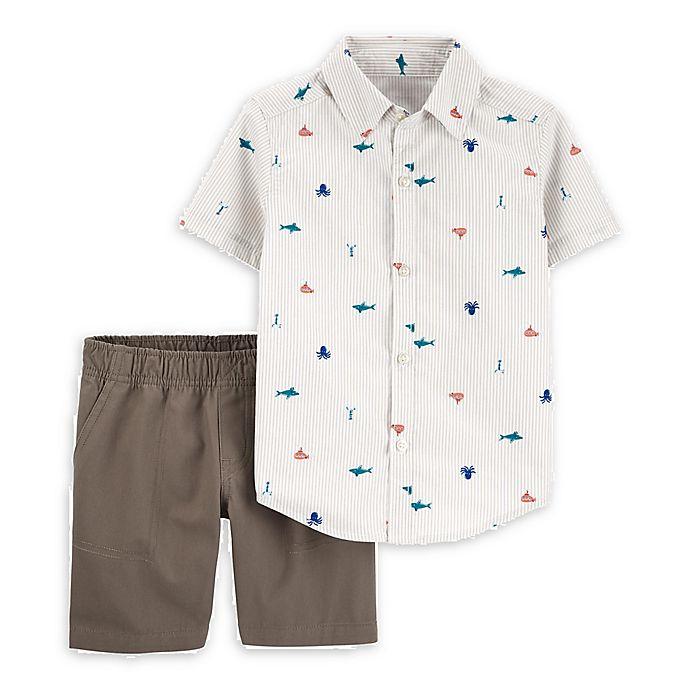Alternate image 1 for carter's® 2-Piece Nautical Shirt and Short Set
