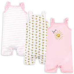 Hudson Baby® 3-Pack Smile Sunshine Rompers in Pink