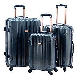 Kensie Alma 3-Piece Nested Hardside Spinner Luggage Set