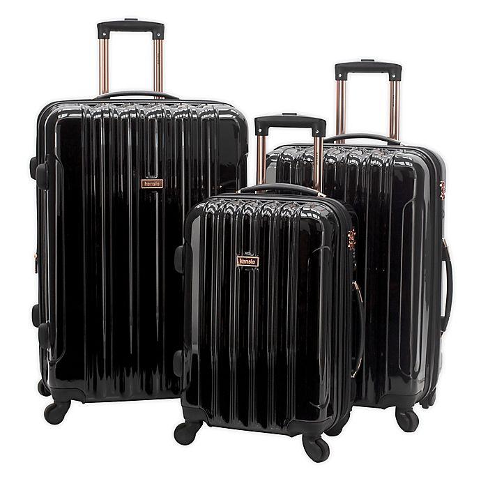 Alternate image 1 for Kensie Alma 3-Piece Nested Hardside Spinner Luggage Set