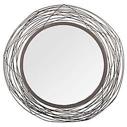 Safavieh Nixie 20.75-Inch x 20.75-Inch Mirror in Black