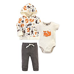Hudson Baby® 3-Piece Bodysuit, Hoodie and Pant Set