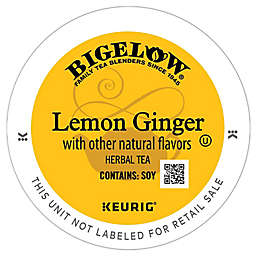 Bigelow® Classic Lemon Ginger Tea Pods for Single Serve Coffee Makers 22-Count