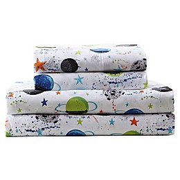 Kute Kids Far Out Galaxy Sheet Set in White/Multi