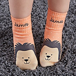 Hedgehog Personalized Toddler Socks