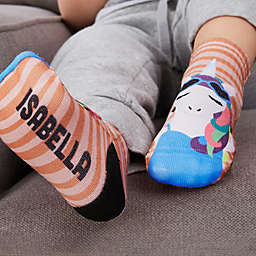 Stylish Unicorn Personalized Toddler Socks