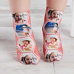 Geometric Personalized Photo Toddler Socks