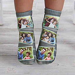 Striped Photo Collage Personalized Toddler Socks