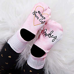 Will You Be My Flower Girl Personalized Toddler Socks
