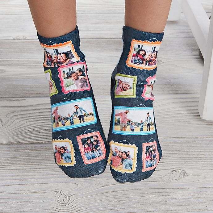 Alternate image 1 for Framed Photo Personalized Toddler Photo Socks
