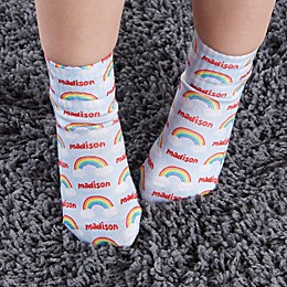 Rainbow Personalized Toddler Socks