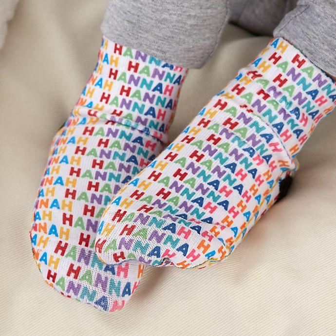 Alternate image 1 for Vibrant Name for Her Personalized Toddler Socks