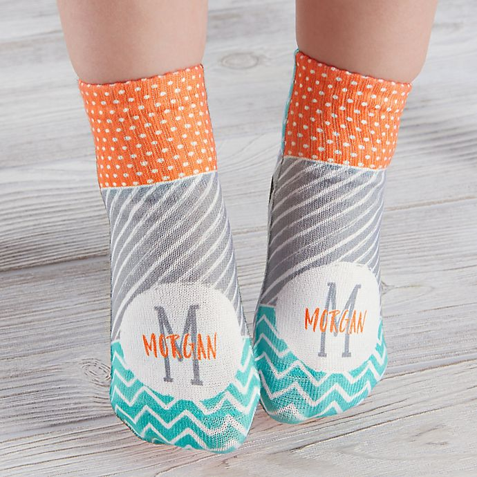 Alternate image 1 for Yours Truly Personalized Toddler Socks