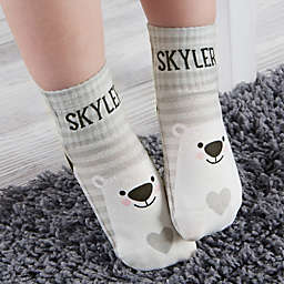 Bear Icon Personalized Toddler Socks