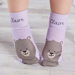 Teddy Bear Personalized Toddler Socks
