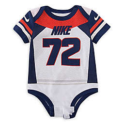 Nike® Football Jersey Bodysuit in White