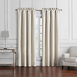 Waterford® Arianna 2-Pack 84-Inch Rod Pocket Window Curtain Panels in Champagne