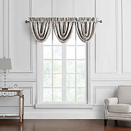 Waterford® Arianna Rod Pocket Waterfall Window Valance in Champagne (Set of 3)
