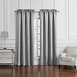 Waterford® Vernon 2-Pack 84-Inch Rod Pocket Window Curtain Panels in Grey