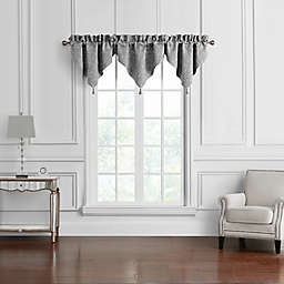 Waterford® Vernon Ascot Rod Pocket Window Valance in Grey (Set of 3)