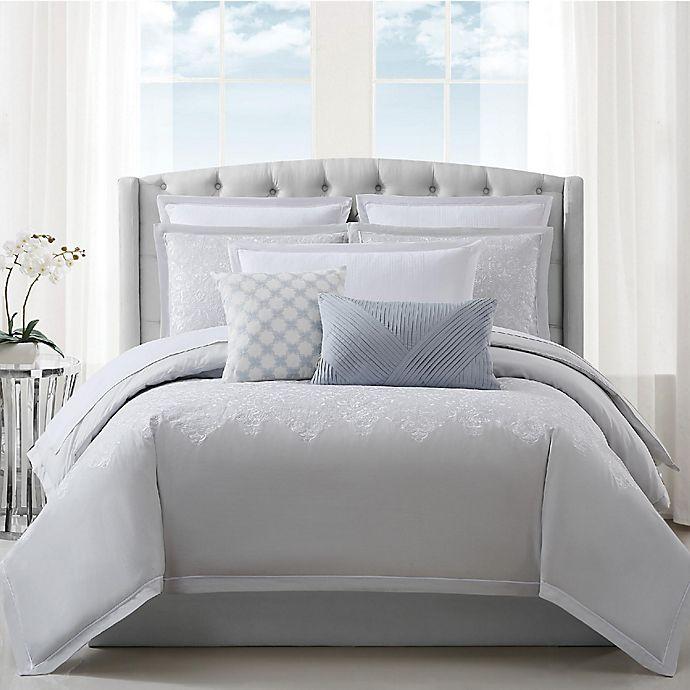 Alternate image 1 for Charisma® Celini 3-Piece Reversible California King Duvet Set in Grey/White
