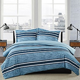 London Fog® Mitchell Stripe Duvet Set