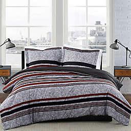 London Fog® Warren Stripe Reversible Duvet Set