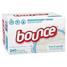 Bounce® Free & Gentle™ 240-Count Fabric Softener Dryer Sheets
