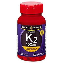 Nature's Reward 50-Count 100 mg Vitamin K2 Quick Release Capsules