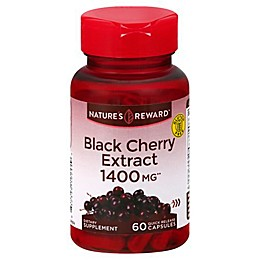 Nature's Reward 60-Count 1400 mg Black Cherry Extract Quick Release Capsules<br />