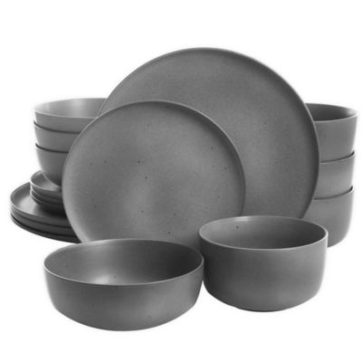 Gather Together Black and White 5 x 3 Ceramic Stoneware Bowl With Spoon
