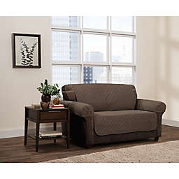 Zenna Home Smart Fit Reversible 3-Piece Faux Suede Loveseat Cover