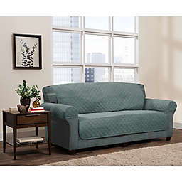Zenna Home Smart Fit Reversible 3-Piece Faux Suede Sofa Cover