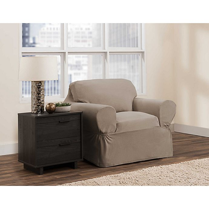 Alternate image 1 for Zenna Home Smart Fit Portland Stretch Chair Slipcover
