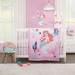 Disney Baby® Ariel Cute by Nature 3-Piece Crib Bedding Set in Pink