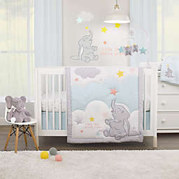 Disney Baby® Dumbo Shine Bright Little Star 3-Piece Crib Bedding Set in Aqua/Grey