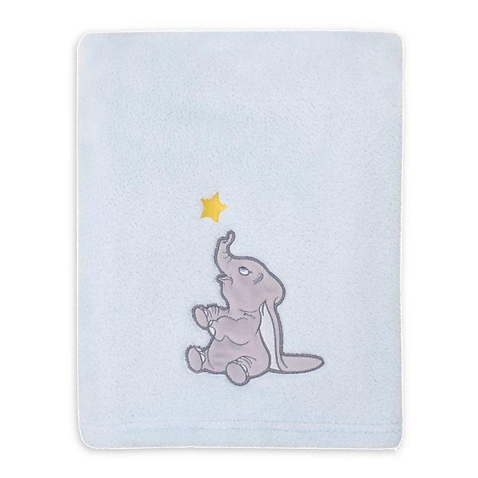 Alternate image 1 for Disney Baby® Dumbo Shine Bright Little Star Baby Blanket in Aqua